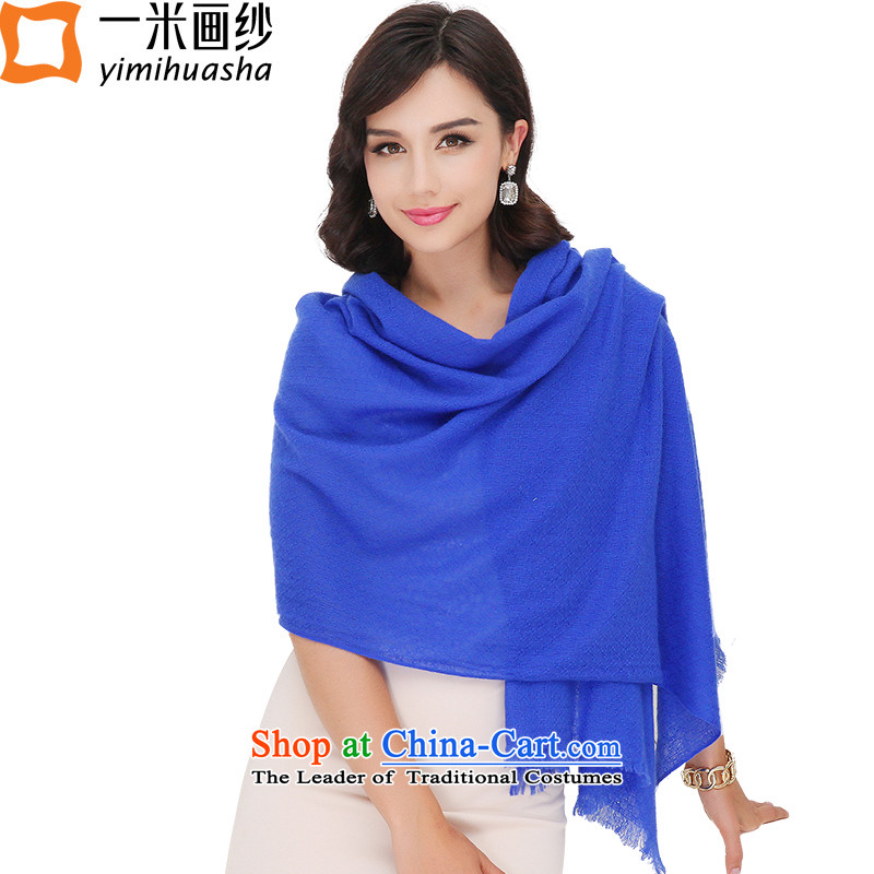 One meter picture of autumn and winter new products of color pashmina shawl leisure blue