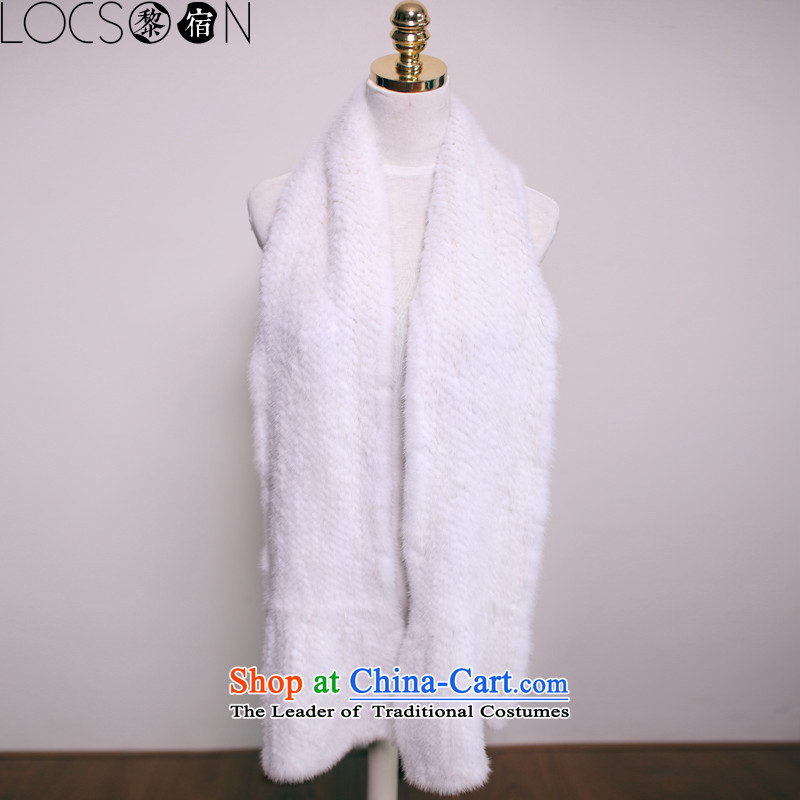 (Lai night) LOCSOON winter thick warm water Sable Hair a fur a scarf mink long hair white collar gross scarf