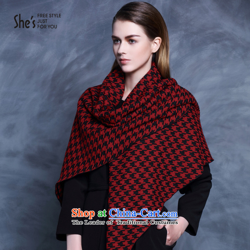 Black and White chidori she's plaid long scarves knitted warm thick shawl two with women SSP9511277 A0, sin (she's) , , , shopping on the Internet