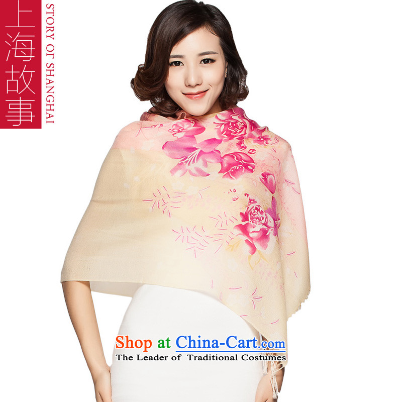 Shanghai Story autumn and winter new stamp Ms. wooler scarf warm shawl and tizzi post