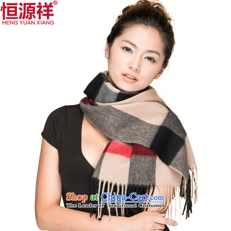 Hang Cheung Korean source, wool scarf of autumn and winter Thick Long grid a Cashmere scarf couples01# shawls and black large