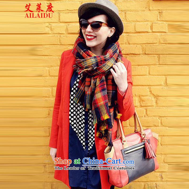 The Aileu degree grid scarf autumn and winter 2015 won her Knitting scarves knitted edition thickness winter shawl scarf GT224_W80464313color grid
