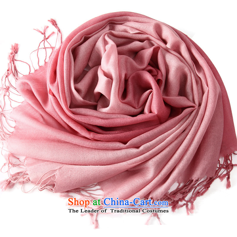 Shanghai Story autumn and winter female Korean stylish ultra-long thick pure gradient wool long warm Fancy Scarf of dual-use and red gradient