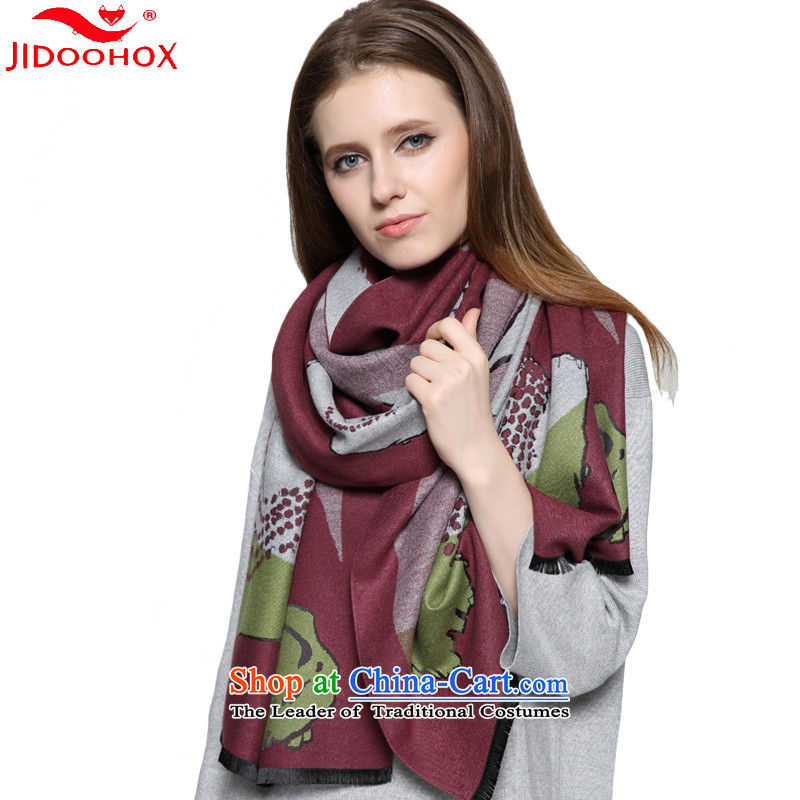 The end of the scarf female autumn and winter JIDOOHOX Korean version of the new long thick, Fancy Scarf double-sided with a warm coffee