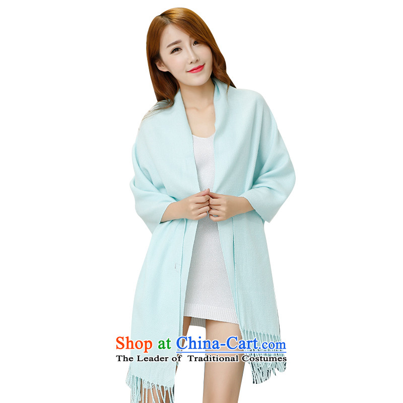 The law of the child-care of solid color Windsor, scarf girl of autumn and winter shawl two long, a Korean version of the transition - Pure color, Blue