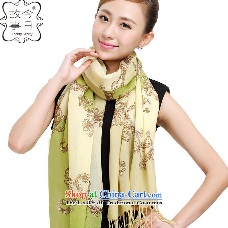 Today the new Korean story wooler scarf of autumn and winter, a dream court encryption woolen shawl177012green