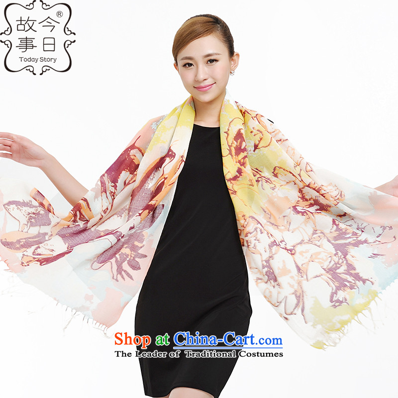 Today the story of autumn and winter wool Korean encryption scarf new large shawl Ms. Graffiti Art Pure Wool 177013 a toner Wong