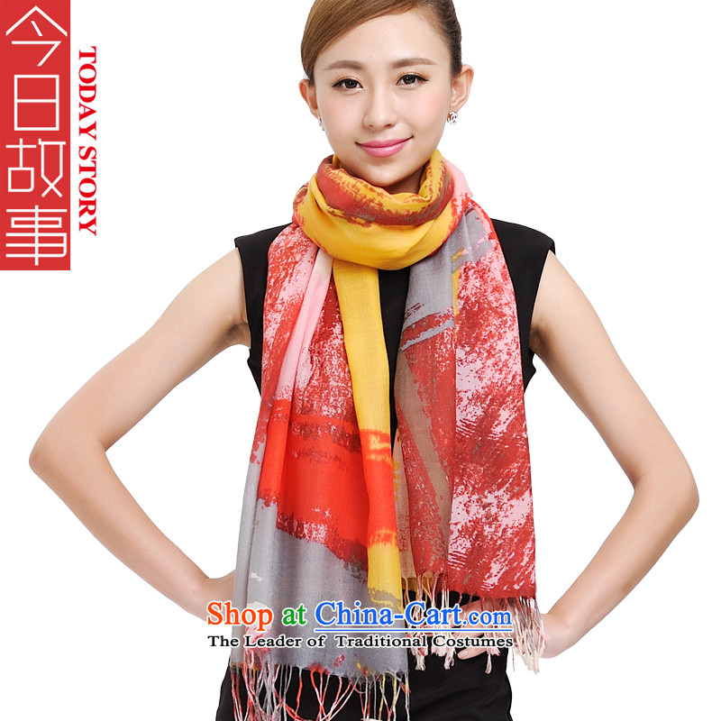 Simple Story Today Angel Pure Wool scarves, encryption of autumn and winter new large shawl long warm 177015 a red