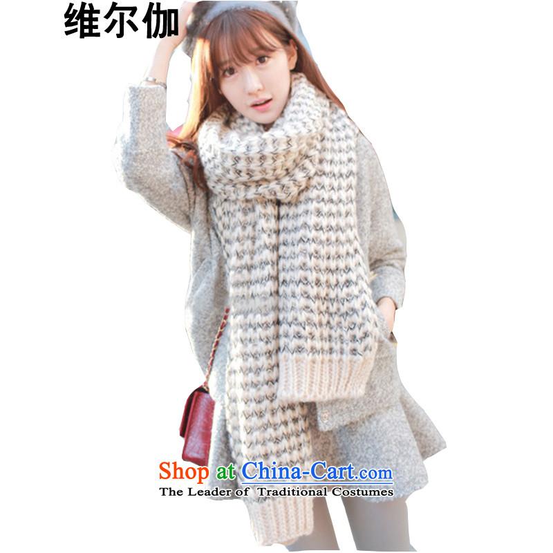 D gamma2015 autumn and winter new Korean warm color mix preppy handkerchief also femaleW8048beige