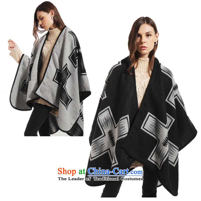 The forklift truck cloak shawl female two-sided ethnic thick, Bohemian female two-sided 128_144 scarf