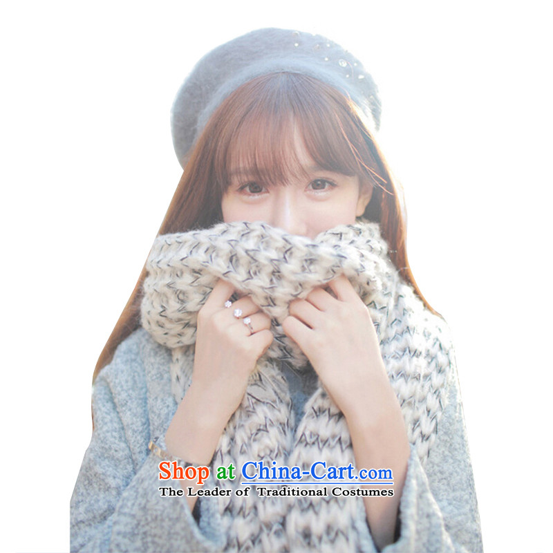 2015 New Ma Hae Maomao line Korean ultra long scarves thick autumn and winter scarves knitted rough of men and women also shawl White