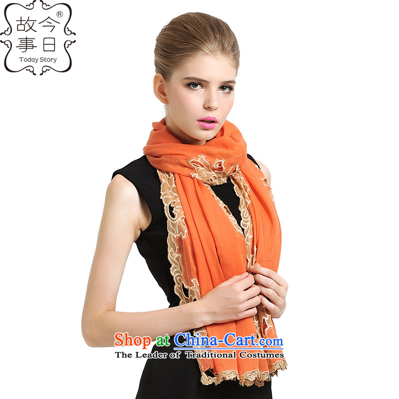 Today the new 2015 story of autumn and winter Princess Datang stylish light film of the scarf wild wind a shawl 177054 orange