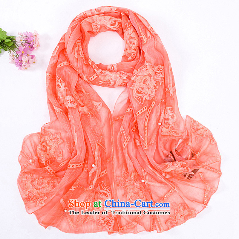 We have 2015 Ms. warm autumn and winter lace shawl long trend of female scarves masks in the winter wa163 GS-5581 orange