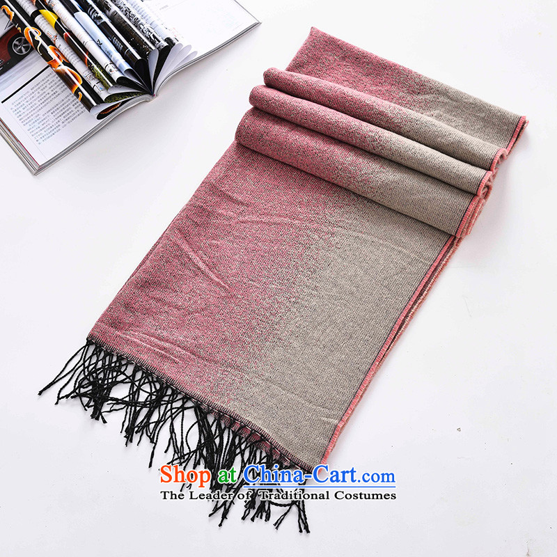 The end of the scarf trompet female two-sided warm a sleek and versatile air-conditioning shawl long autumn and winter flow Su1#