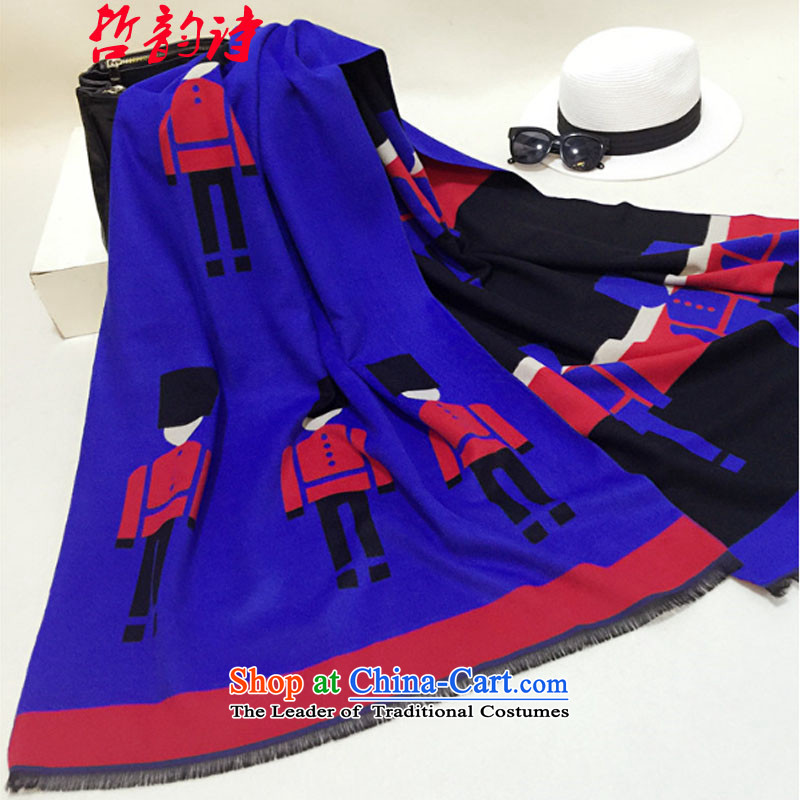 Denise chul won version 2015 winter new women's largest shawl scarves with thick long, two-sided scarf -8053 guards Royal Blue