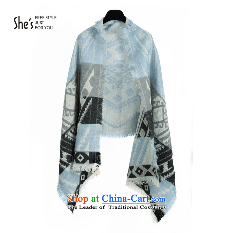 Mrs Ure child fall/winter she's ornaments with geometric Plaid Ms. polyester thick long warm scarves shawlSSP9519409 C0