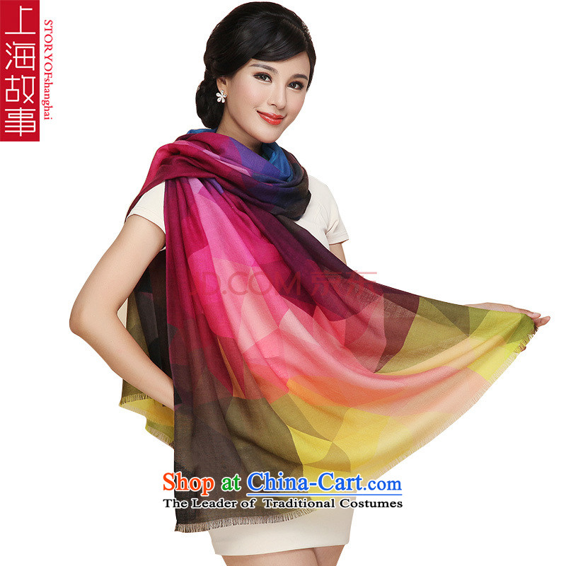 Shanghai Story wooler scarf female Australian wool wildsize warm聽LM9 shawl
