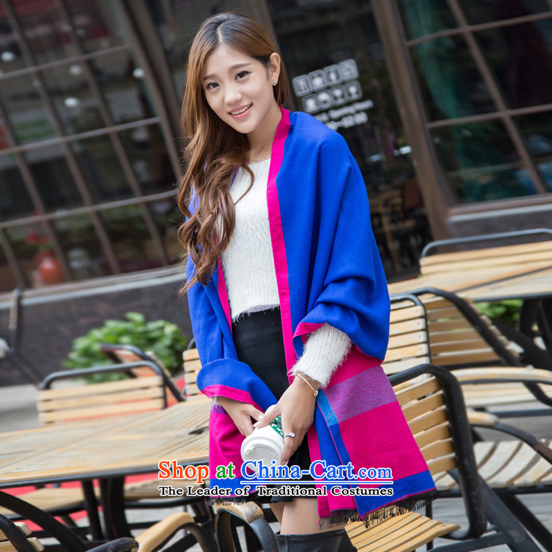 Mr Pik PTZ 2015 autumn and winter sleek new ultra long two shawls, animals stamp a small Blue Monster