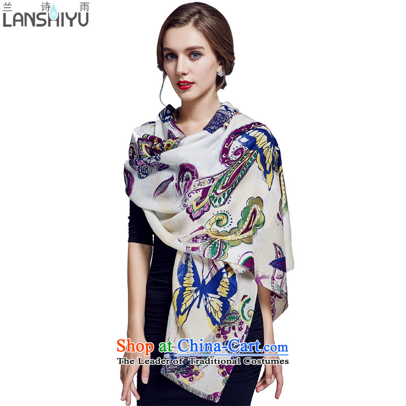 In Australia 80 poems rain Ms. wooler scarf autumn and winter stamp butterfly warm large size long shawl LSYW07803651100 Purple