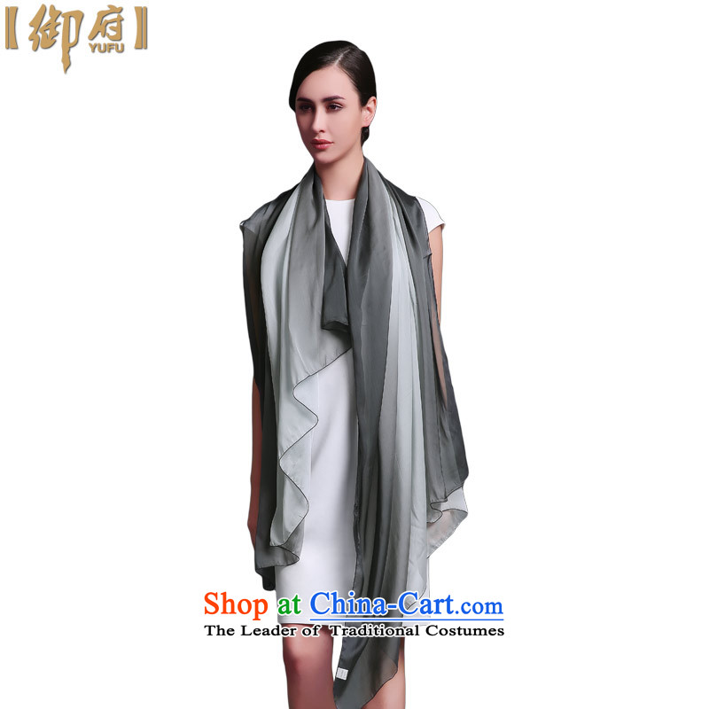 The Royal Government of silk scarves female long hand-painted silk shawls gradient scarf sauna with black and white Limited