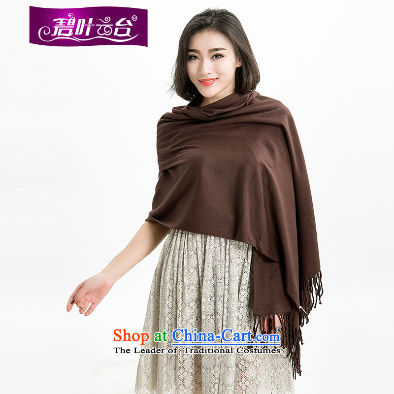 Mr Pik PTZ 2015 winter new woolen shawl there are large solid color woolen knitted scarf4313edging Tai Wai Shing long005
