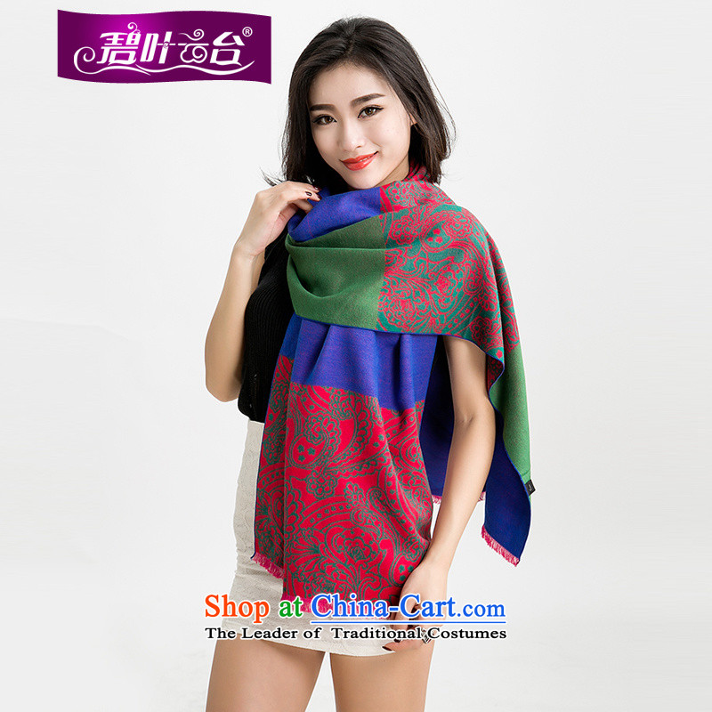 Mr Pik PTZ 2015 autumn and winter new woolen scarves with thick won two shawls version color bar extralong woolen shawl female A005