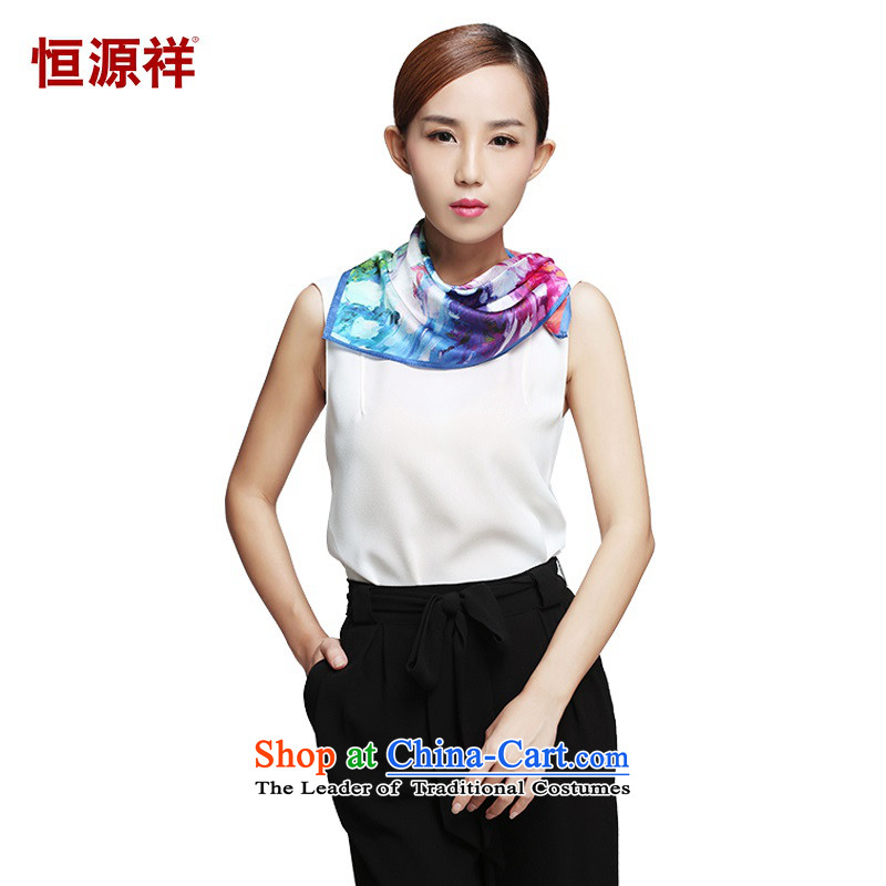 Hengyuan Cheung silk scarves ink dance China Classical Wave Small Towel, scarf聽50_50 ZF006- autumn dreams come true聽50_50_ L_W_
