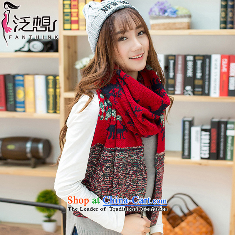 Pan want (winter 2015) new fanxiang, Korean long thick Knitting scarves female students Sorok warm Knitting scarves shawl two red