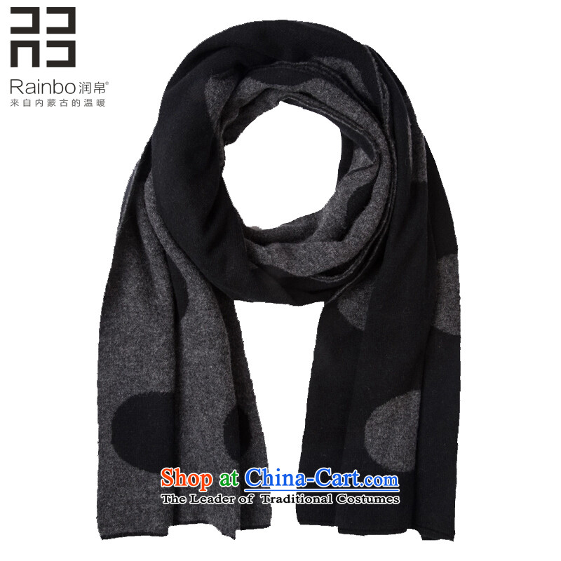 Yun 8D double-sided thick waves wooler scarf winter spring and autumn point Korean knitting black and white dot with two shawls female