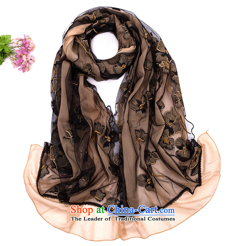 We have 2015 Ms. warm autumn and winter double silk scarf shawl long Christmas giftsGS-1107 scarves masks in black
