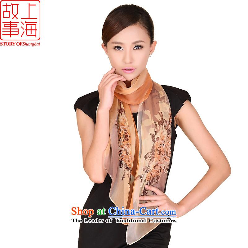 Shanghai Story modern and simple silk scarfs herbs extract long sunscreen silk scarf beach towel167087m lady color