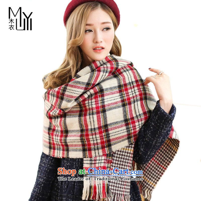 Spell Checker color two-sided wood yi chidori grid scarf warm air-conditioned room shawl England PREPPYMY-HM-002190_100 Beige