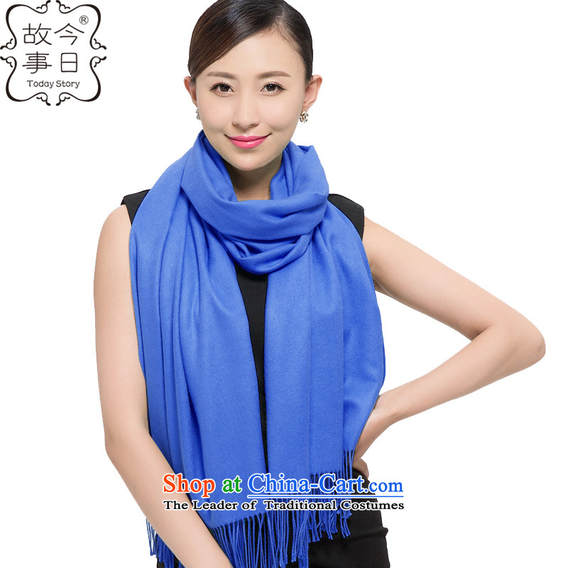 Today new story of autumn and winter, Korean simple plain color emulation mood cashmere shawls warm-ups169069Denim blue scarf