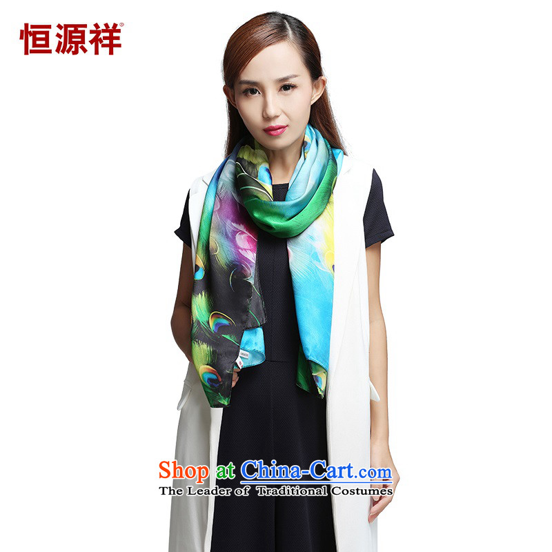 Hengyuan Cheung silk scarves ink dance China wave classical antique colorful long towel autumn scarves Ms.ZC007- birds of the Spirit