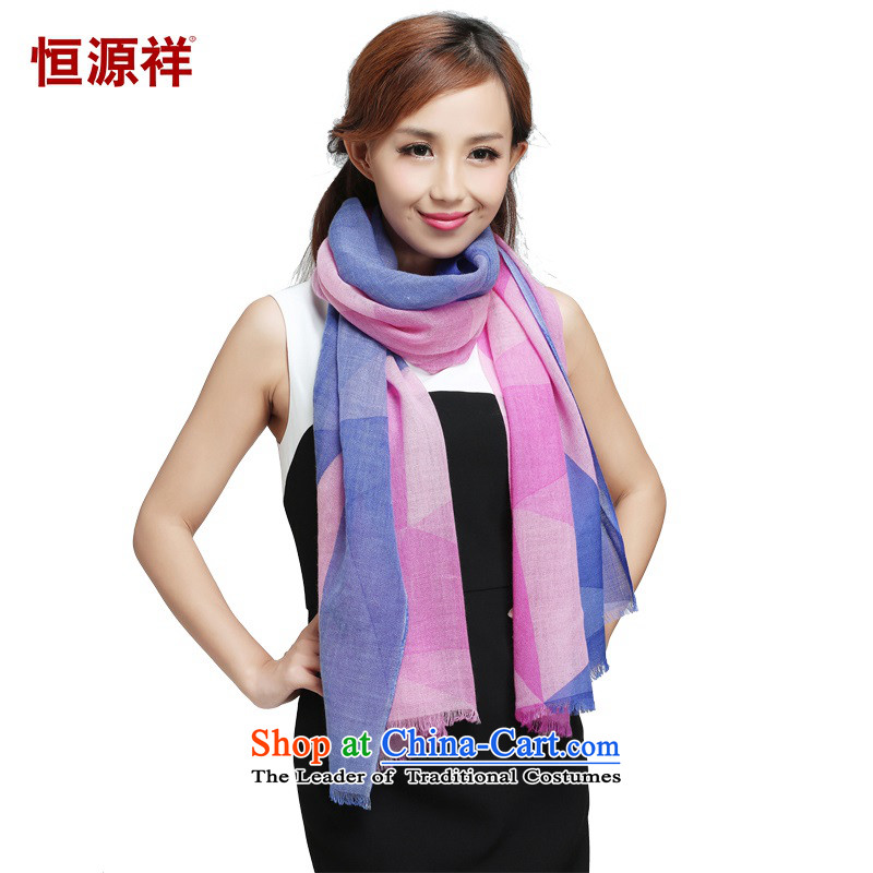 Hengyuan Cheung thin wooler scarf of 100_ Ms. geometry scarf autumn and winter new products of the scarf聽65_180 65_180 6303