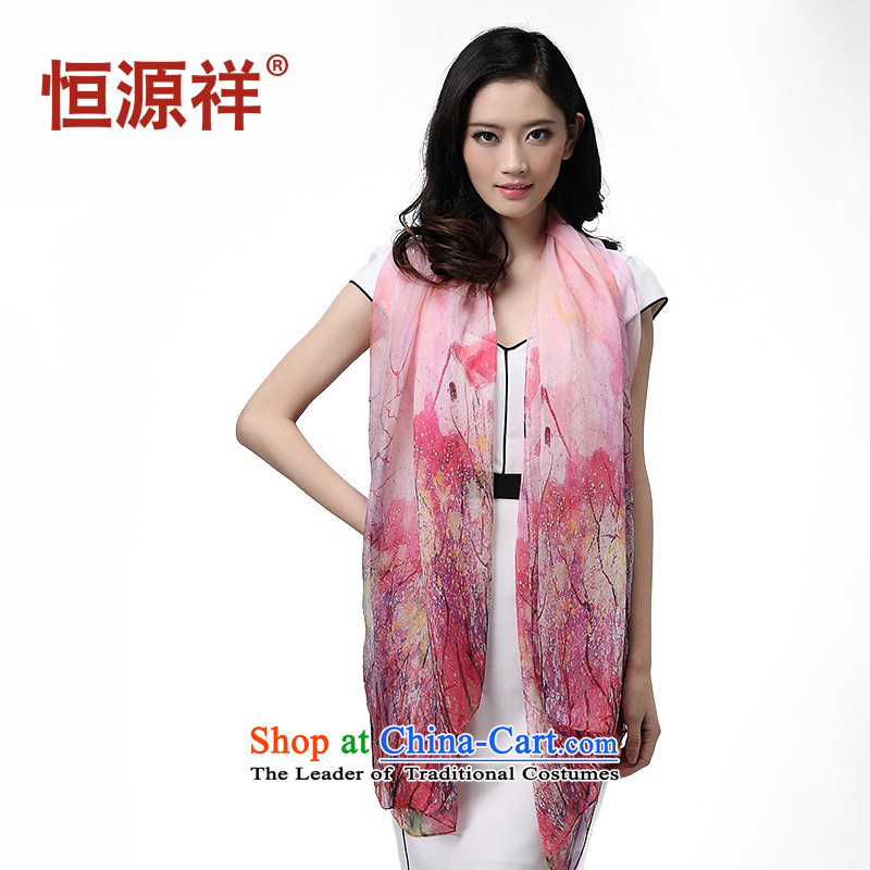 Hengyuan Cheung Yan-style garden mysterious silk scarf beach shawl long air-conditioning towel silk scarves scarves womenZC5047