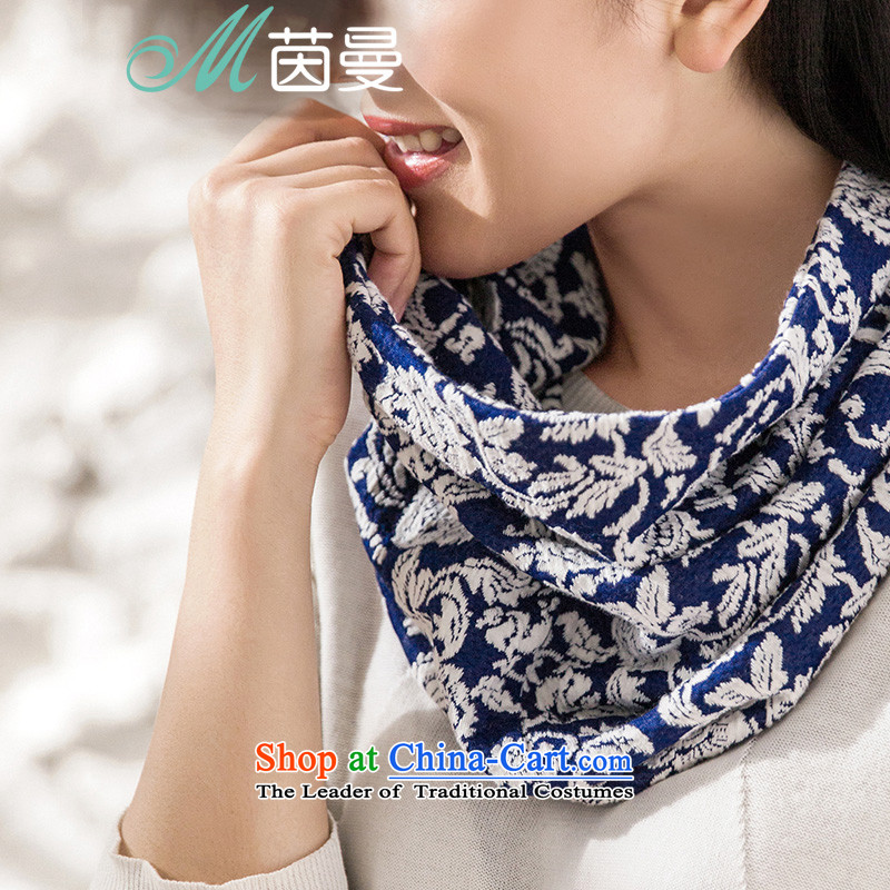 Athena Chu Cayman 2015 winter clothing New Color Plane Collision National Jacquard Wild Women's electoral 8541400671 as soon as possible a Denim blue Denim blue