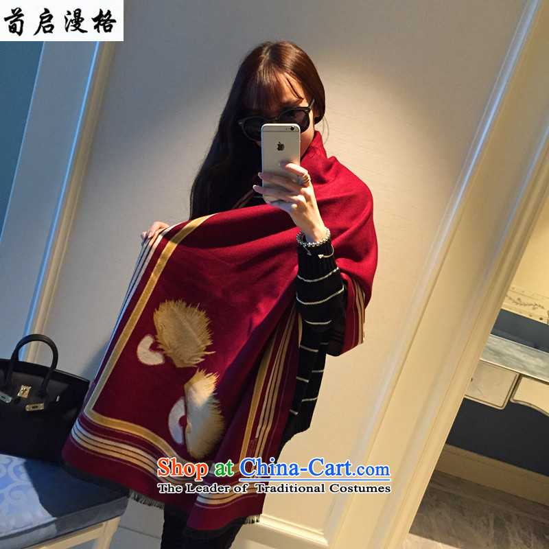 Sun Kai Man, autumn and winter New Small Devil eyes flower pashmina shawl4313large thick XRP3312 chestnut horses