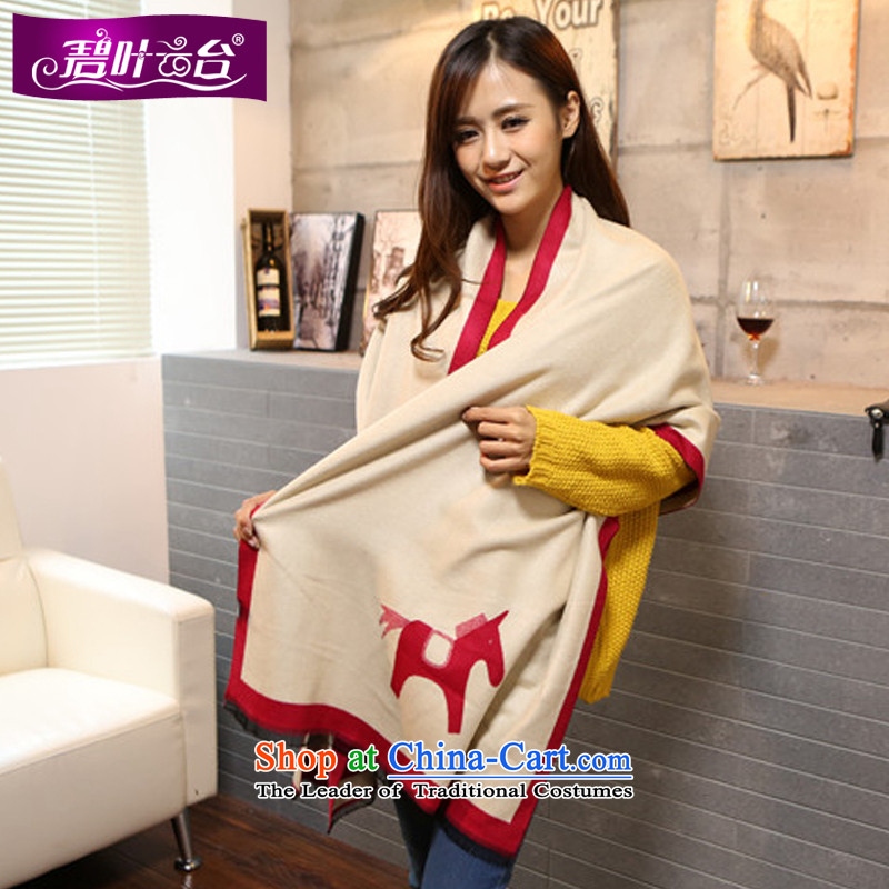 Mr Pik PTZ 2015 autumn and winter new woolen scarves with thick won two shawls version stamp miniature ponies extralong _pashmina shawl female A003