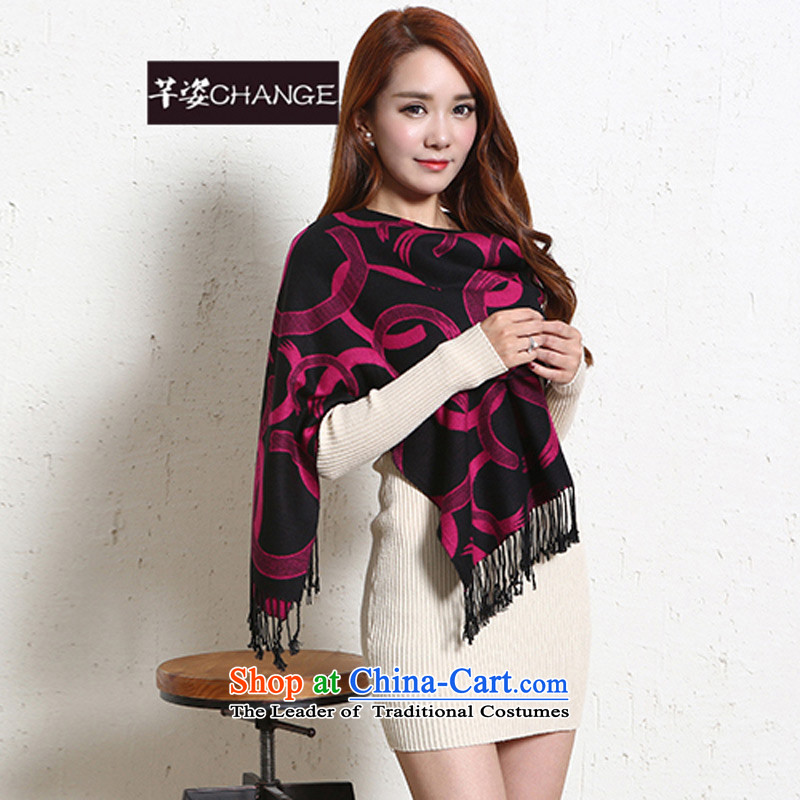 The Constitutional Position CHANGE autumn and winter, pashmina streaks leisure wild warm thick a shawl by Ms. autumn and winter red