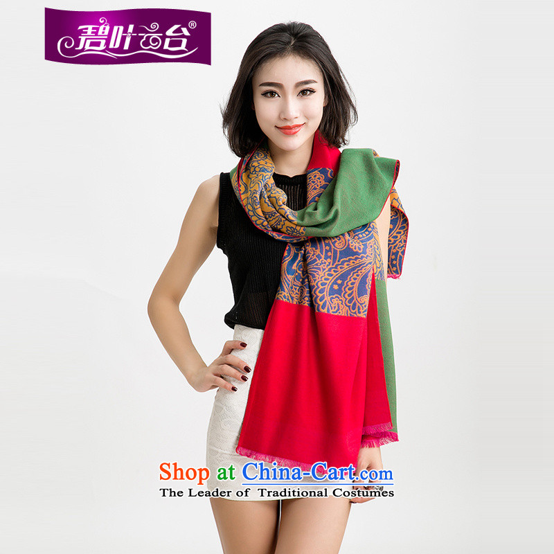Mr Pik PTZ 2015 autumn and winter new woolen scarves with thick won two shawls version color bar extralong woolen shawl female A001