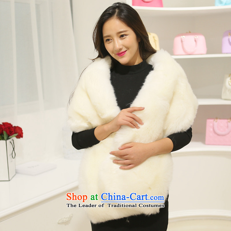 Statements were made by the beautiful woven miritalk fur coat 2015 in the women's long-haired Sau San consolidation leather simulation video thin stingrays fur grass Korean bridal shawl m Yellow