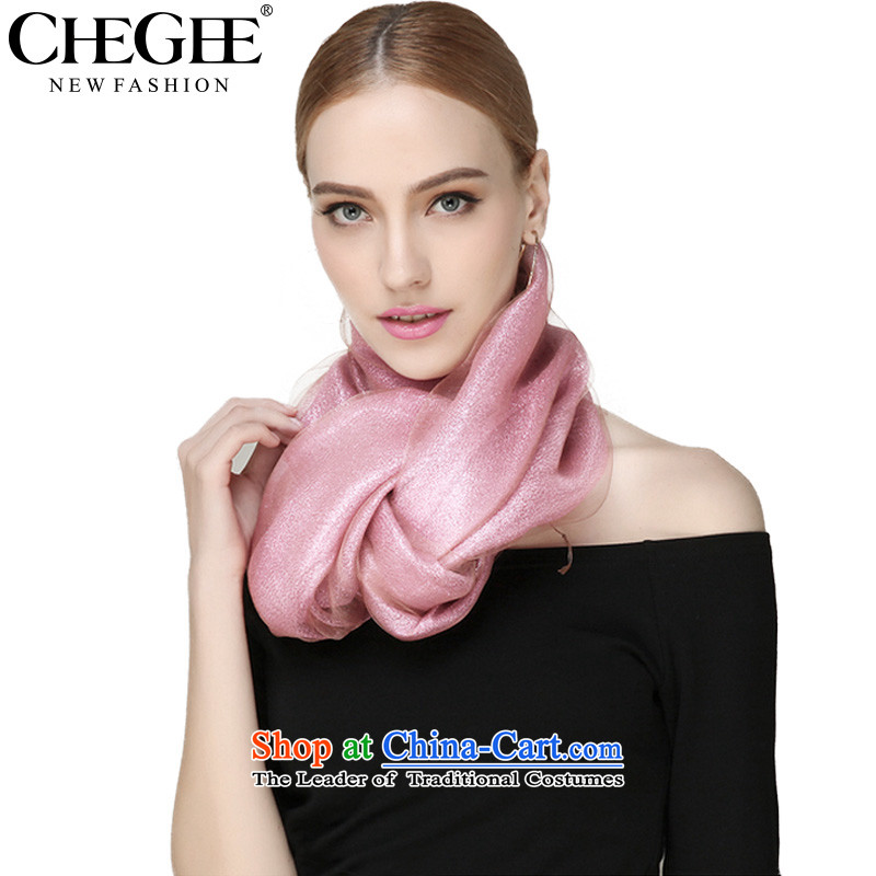 Anthology of new double CHEGEE silk scarves scarf OSCE root yarn female shawl edging Pink