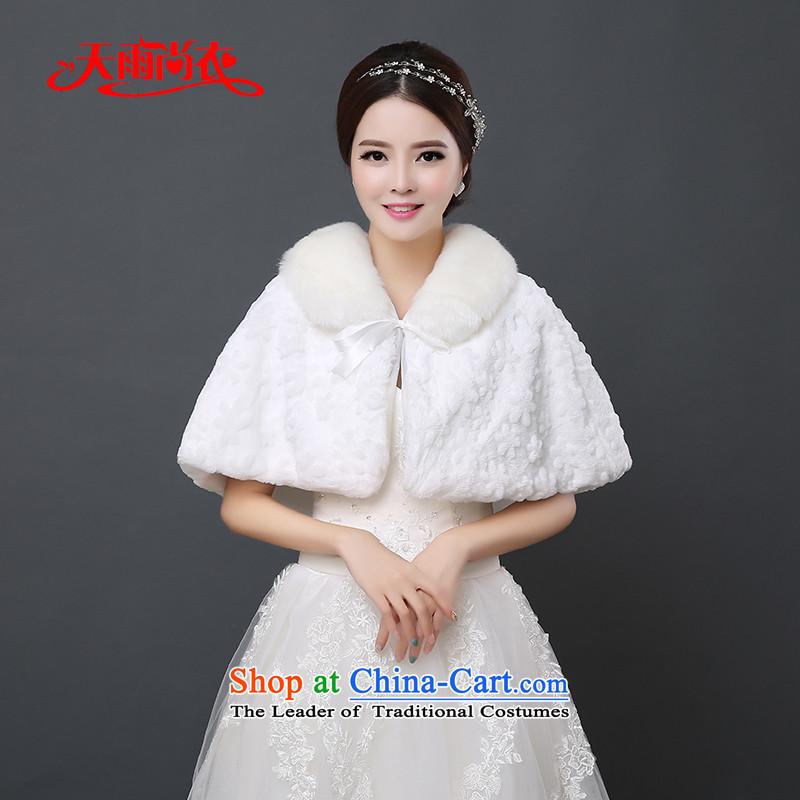 Rain-sang yi 2015 autumn and winter new bride wedding jacket wedding dress Warm mantle bridesmaid at shoulder white hair PJ0128 shawl