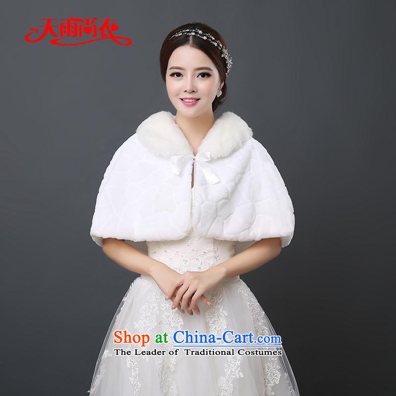 Rain-sang yi2015 autumn and winter new bride wedding jacket Kampala shoulder marriage bridesmaid dress Warm white spaniel PJ0129 shawl