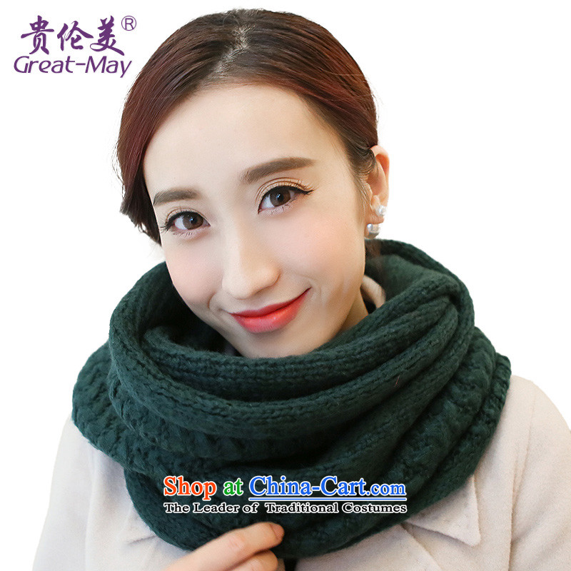 The US military also female Winter Sweater of Korean ripple Knitting scarves Fall Winter Korea thick warm kit Tau Wai Shing male WB0026 Qiu Xiang Green