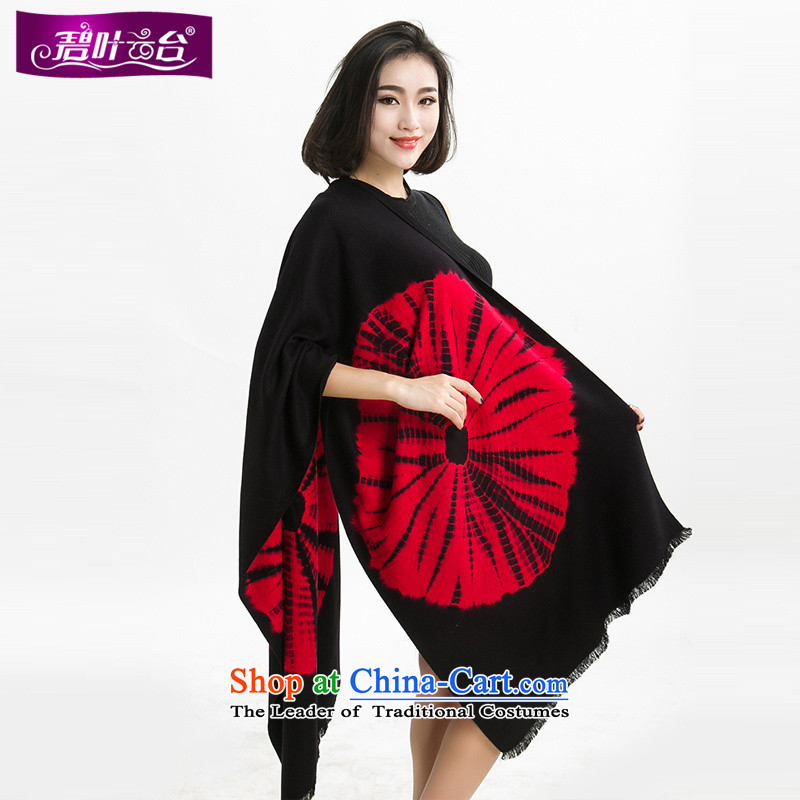 Mr Pik PTZ 2015 autumn and winter warm female national wind wool _pashmina shawl scarves with thick cloak Sunflower on a shawl001