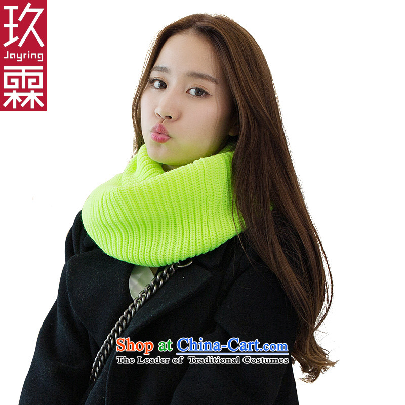 Ko Yo Girl winter of Lam scarf colors pure color handkerchief history lovers, a yellow green