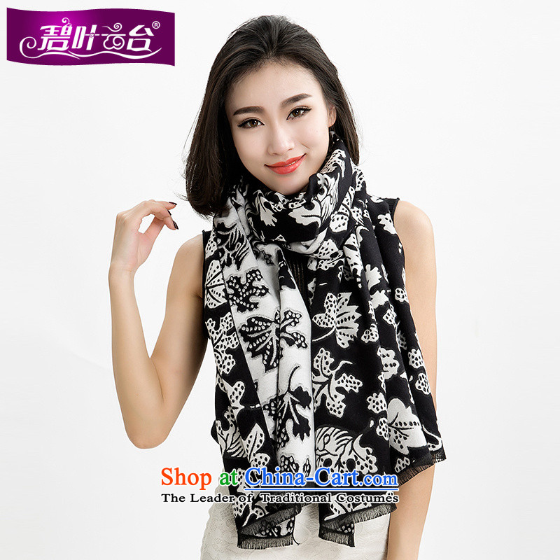 Mr Pik PTZ 2015 autumn and winter Cashmere wool scarves new products, both _pashmina shawl Maple Leaf stamp rectangular handkerchief extra-long history002