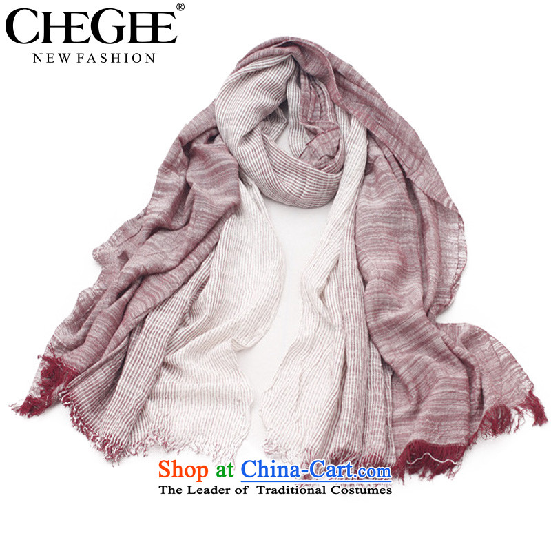 Anthology of literature and art wind creases CHEGEE scarf gradient cotton linen Fancy Scarf applied to men and women of ochre color couples